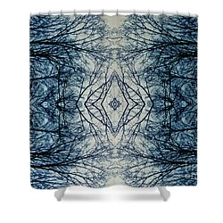 Bare Branch Connection Shower Curtain