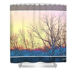 Bare Trees Framed Shower Curtain