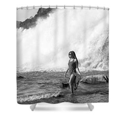 Barefoot In Wilderness Shower Curtain