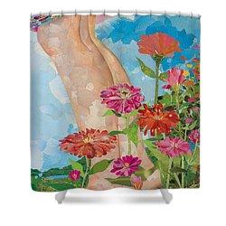 Barefoot Shower Curtain