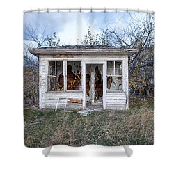 Shower Curtain featuring the photograph Barely Standing by Fran Riley