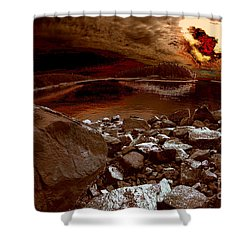 Bargain Bay  Series 2 Shower Curtain by Elaine Hunter