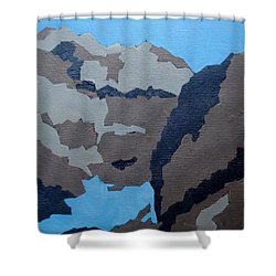 Barker Dam Abstract Shower Curtain by Richard Willson