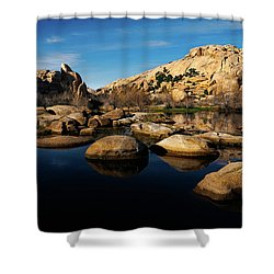 Barker Dam Lake Shower Curtain