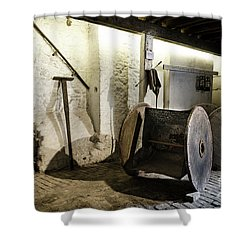 Shower Curtain featuring the photograph Barley Warehouse At Lockes Distillery by RicardMN Photography