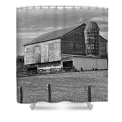 Shower Curtain featuring the photograph Barn 1 by Mike McGlothlen