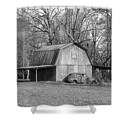 Shower Curtain featuring the photograph Barn 2 by Mike McGlothlen