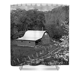 Shower Curtain featuring the photograph Barn 3 by Mike McGlothlen