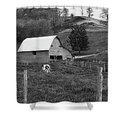 Shower Curtain featuring the photograph Barn 4 by Mike McGlothlen