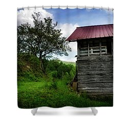 Barn After Rain Shower Curtain by Greg Mimbs