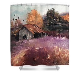 Barn And Birds  Shower Curtain