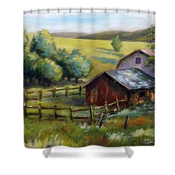 Barn And Field Shower Curtain