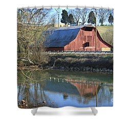 Barn And Reflections Shower Curtain