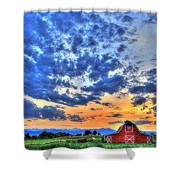 Barn And Sky Shower Curtain by Scott Mahon