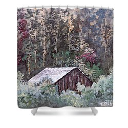 Barn At Cades Cove Shower Curtain by Todd A Blanchard