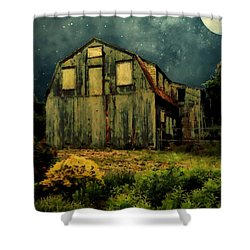 Barn By The Beach Shower Curtain by RC deWinter