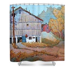 Barn Door Whimsy Shower Curtain by Joyce Hicks