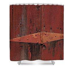 Barn Hinge Shower Curtain by Garry Gay