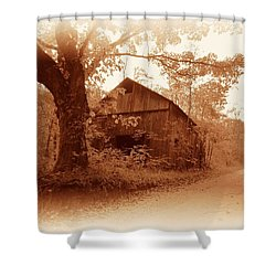 Barn Hocking Co Ohio Sepia Shower Curtain