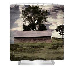 Barn II A Digital Painting Shower Curtain