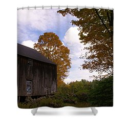 Barn In Fall Shower Curtain by Lois Lepisto