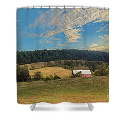 Barn In Field Shower Curtain