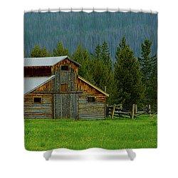 Barn In Rocky Mtn National Park Shower Curtain by John Roberts