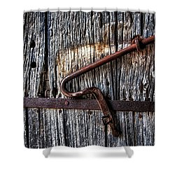 Barn Lock Shower Curtain