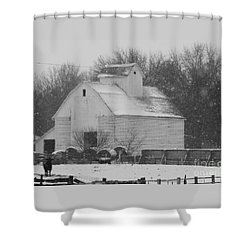 Shower Curtain featuring the photograph Barn Of Beauty by J L Zarek