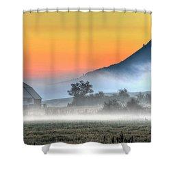 Barn Of Brigadoon Shower Curtain