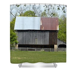 Barn Of Fair Hill Shower Curtain by Donald C Morgan