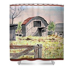 Barn On Fisk Rd Shower Curtain