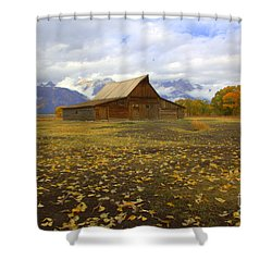 Barn On Mormon Row Utah Shower Curtain
