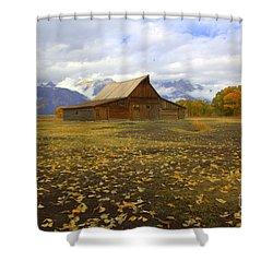 Barn On Mormon Row Utah Shower Curtain