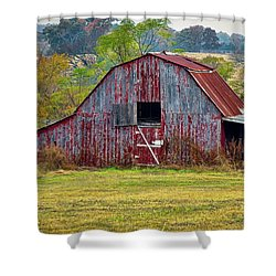 Barn On White Oak Road 2 Shower Curtain