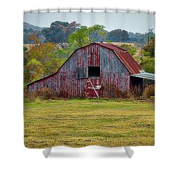 Barn On White Oak Road Shower Curtain