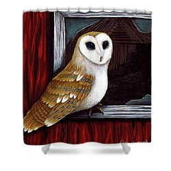 Barn Owl Beauty Shower Curtain
