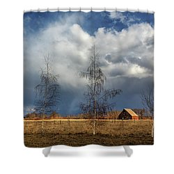Shower Curtain featuring the photograph Barn Storm by James Eddy