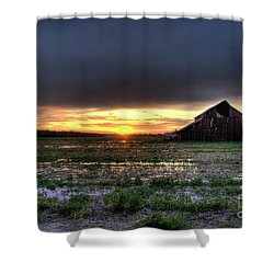 Barn Sunrise Shower Curtain