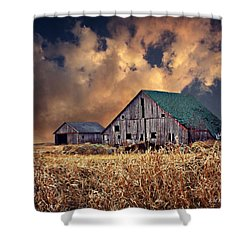Barn Surrounded With Beauty Shower Curtain by Kathy M Krause