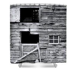 Barn Texture Shower Curtain by Wayne Sherriff