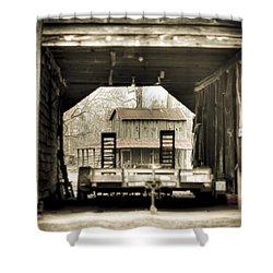 Barn Through A Barn Shower Curtain