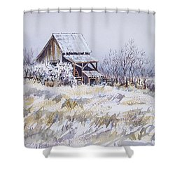 Barn Windmill Road Shower Curtain