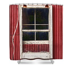 Barn Window And Rope Shower Curtain