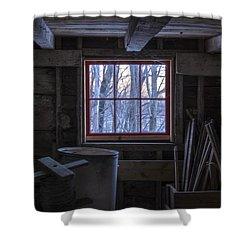 Barn Window II Shower Curtain by Tom Singleton