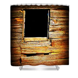 Barn Window Shower Curtain by Perry Webster