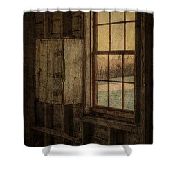 Barn Window Shower Curtain by Tom Singleton