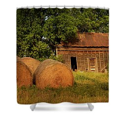 Barn With Haybales Shower Curtain