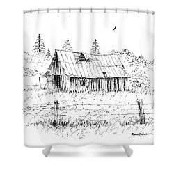 Barn With Skylight Shower Curtain
