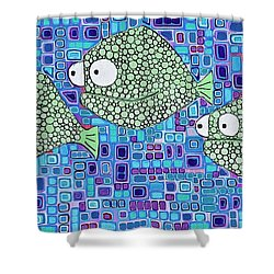 Barnacle Fish Shower Curtain